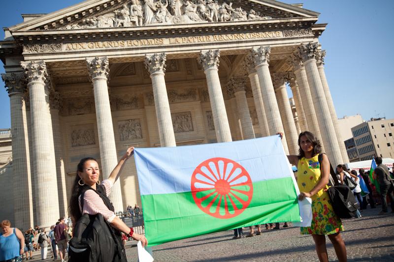 La première édition de la Roma Pride, le 1er octobre 2011, sur la place du Panthéon