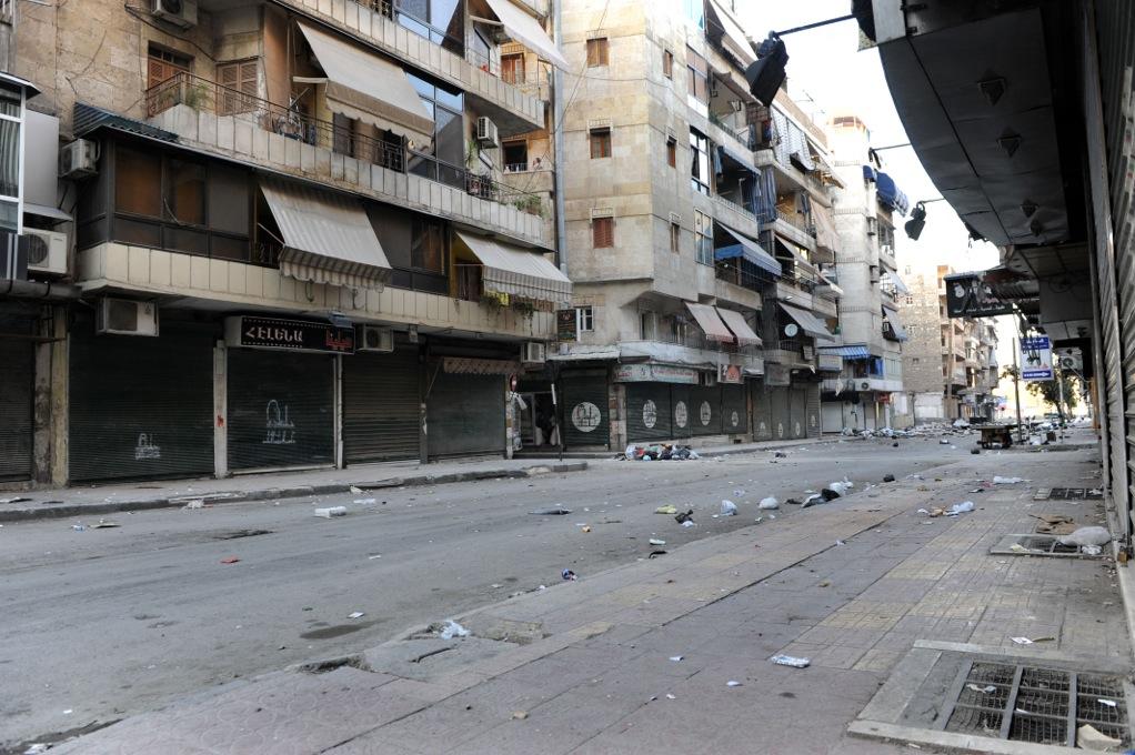 Bosthan Pacha, la rue des snipers, à Alep.