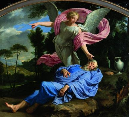 Philippe de Champaigne (1602-1674), Le sommeil d'Elie, 1650-1655, Le Mans, musée de Tessé.