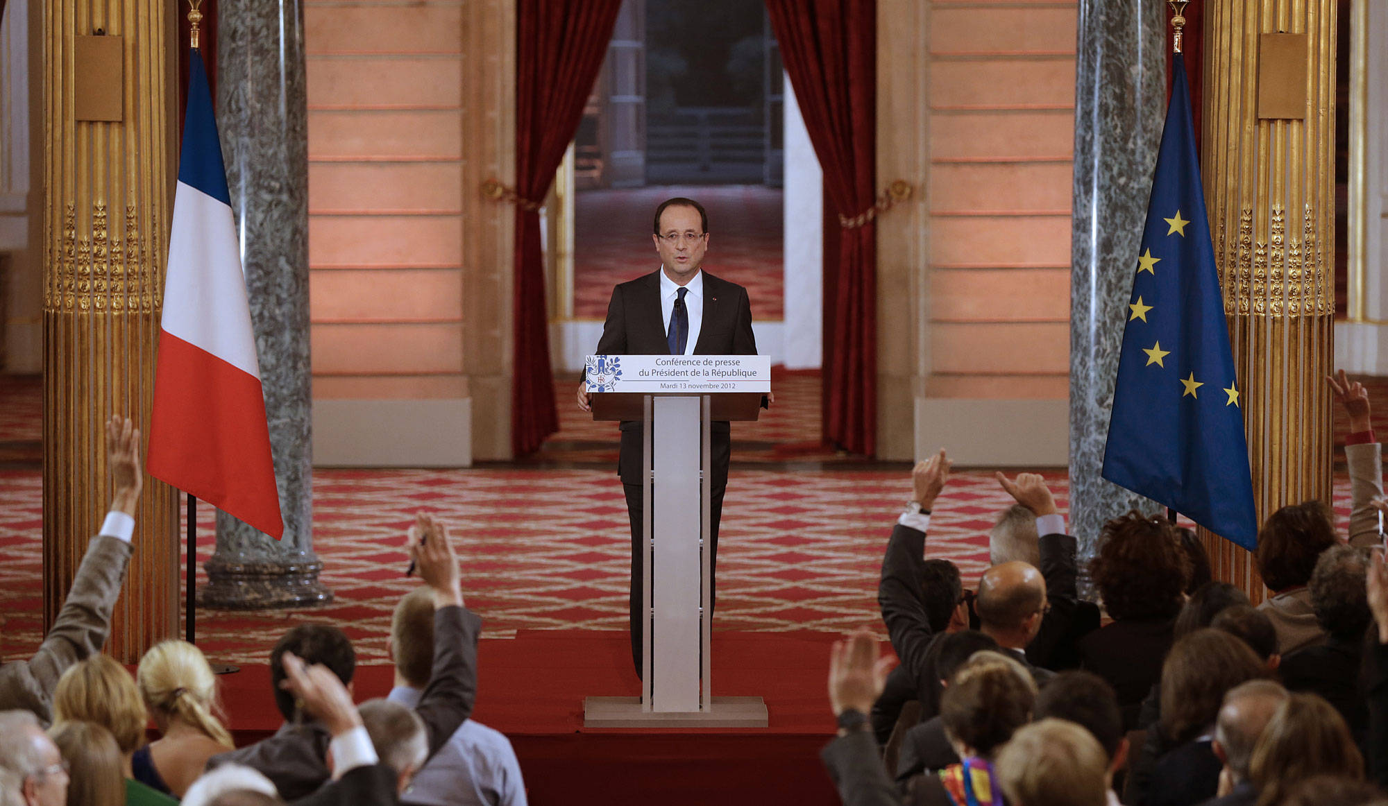 François Hollande lors de la conférence de presse du 13 novembre 2012.
