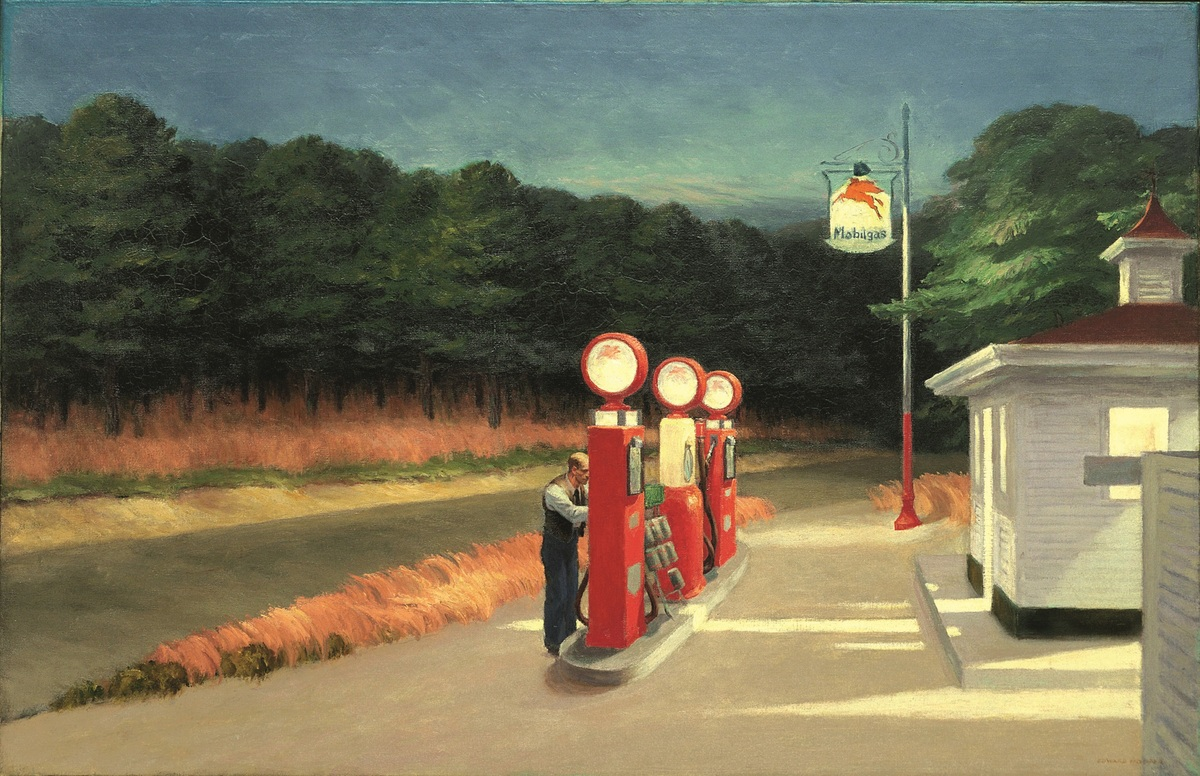 Gas, 1940, huile sur toile, New York, Museum of Modern Art (© 2012 / Digital image, The Museum of Modern Art, New-York / Scala, Florence)