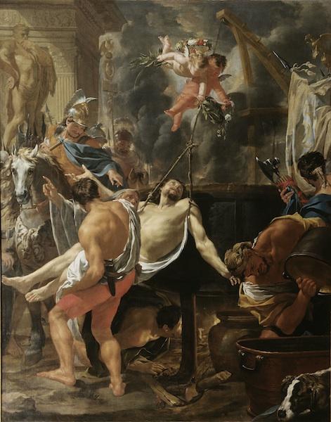 Charles Le Brun (1619-1690), Le Martyre de Saint Jean l'Evangéliste, 1642, Paris, église Saint-Nicolas-du-Chardonnet.