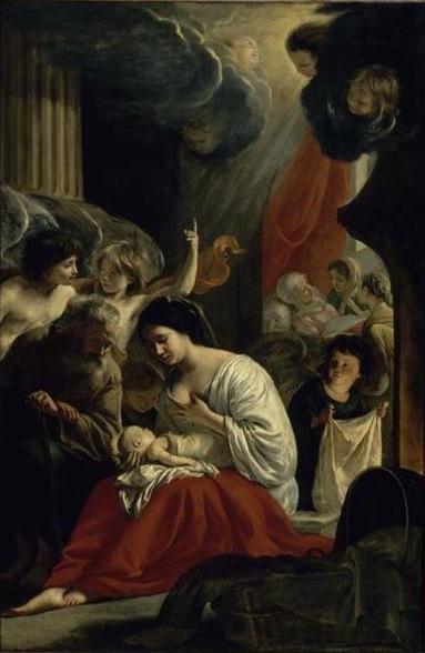 Louis et Mathieu Le Nain, La Naissance de la Vierge, vers 1640, Paris, cathédrale Notre-Dame.