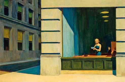 New York Office, 1962, huile sur toile, Montgomery, Museum of Fine Arts (© Montgomery Museum of Fine Arts)