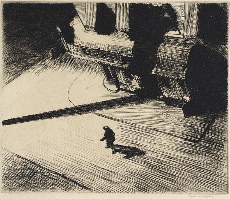Night Shadows, 1921, gravure, Philadelphia Museum of Art - Purchased with the Thomas Skelton Harrison Fund, 1962 (© Philadelphia museum of art)