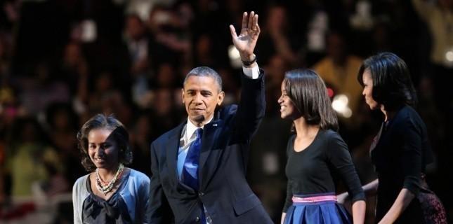 Obama et sa famille à Chicago, le 7 novembre