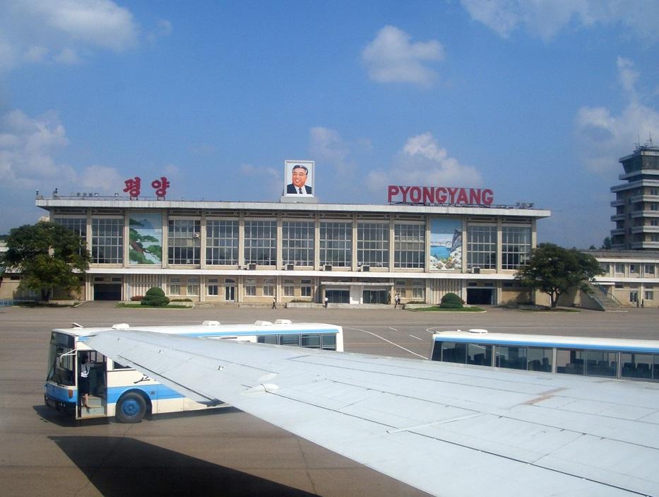 Aéroport de Sunan, Pyongyang, Corée du Nord.
