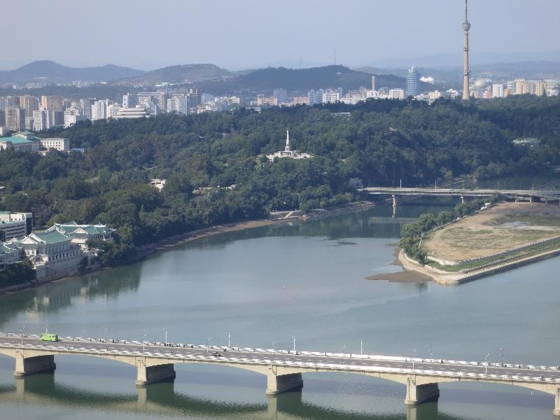 Vue de Pyongyang. Photo : Olivier Racine