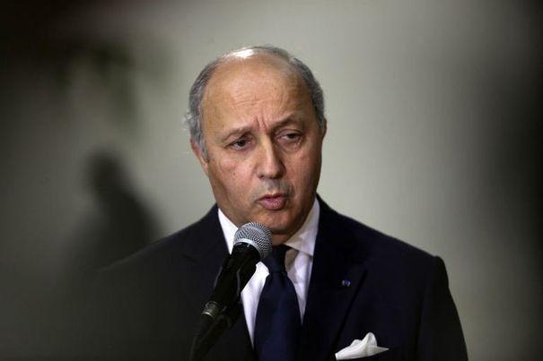 Laurent Fabius, ministre des affaires etrangères le 18 novembre 2012 en israël