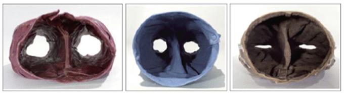 Patrick Tosani. Masques n°2, n°4 et n°11, 1998-1999.