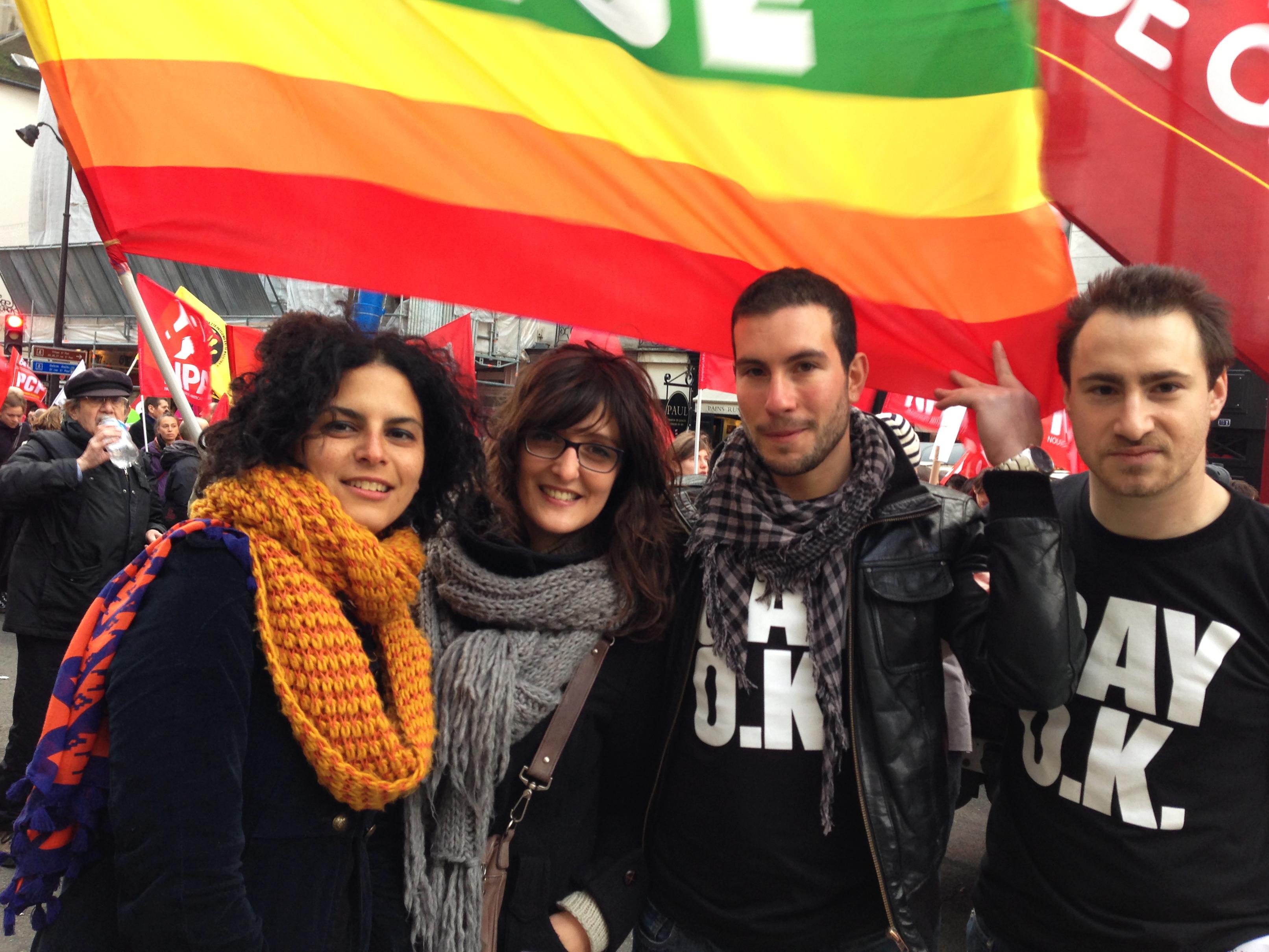 Manifestation pour le mariage pour tous et pour l'adoption homoparentale à Paris, le 16 décembre 2012
