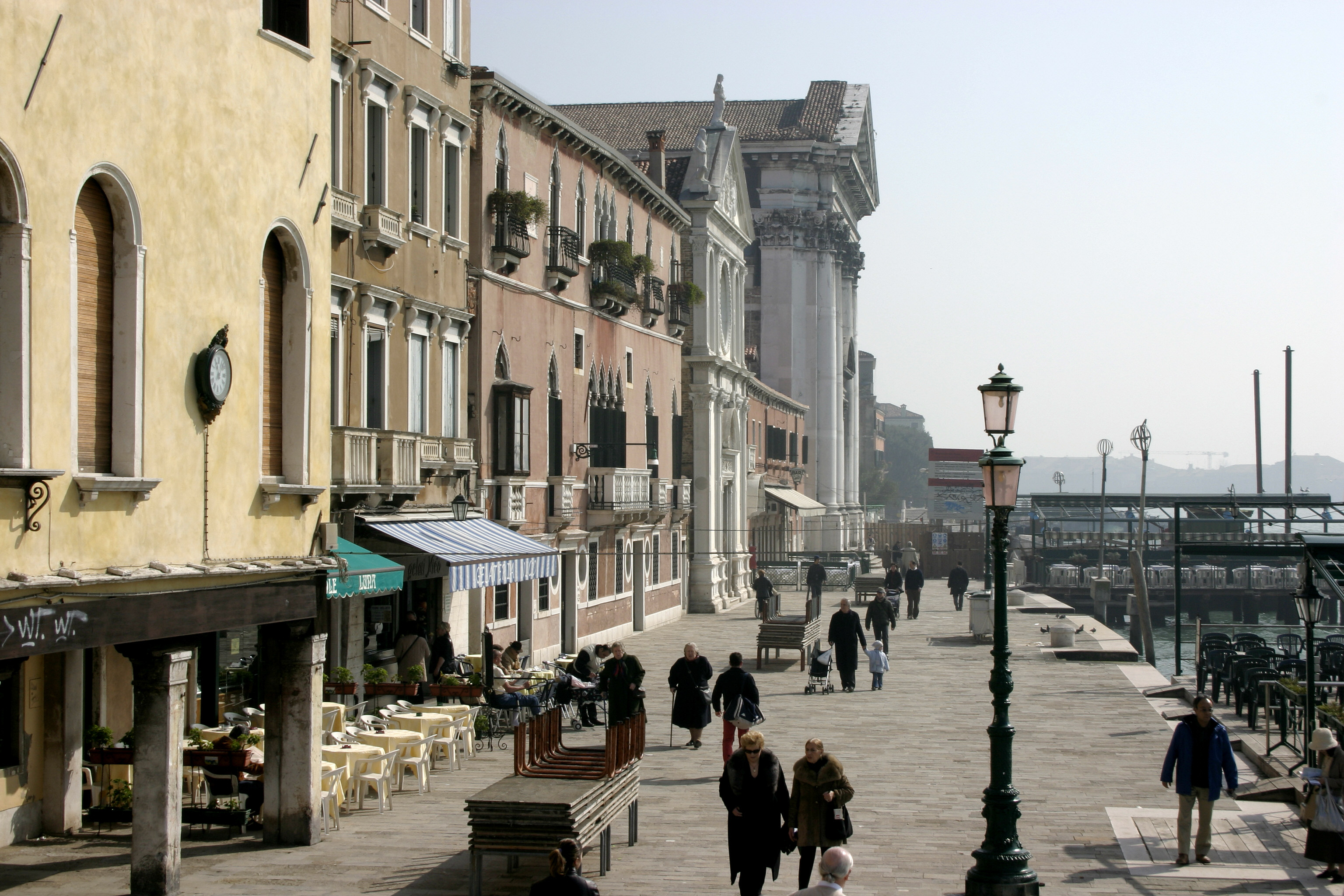 La promenade des Zattere à Venise.
