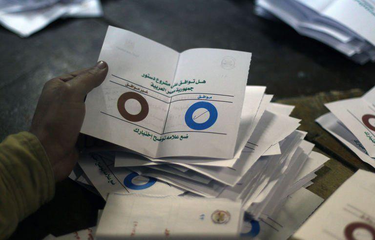 Le dépouillement des bulletins après le vote du 22 septembre