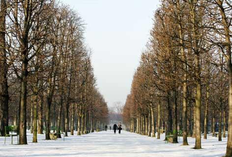 Neige dans le Jardin des Tuileries