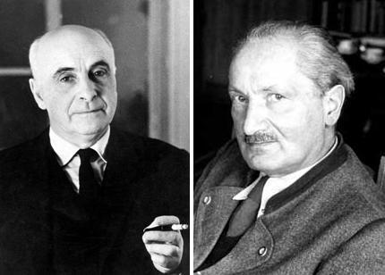 Francis Ponge et Martin Heidegger