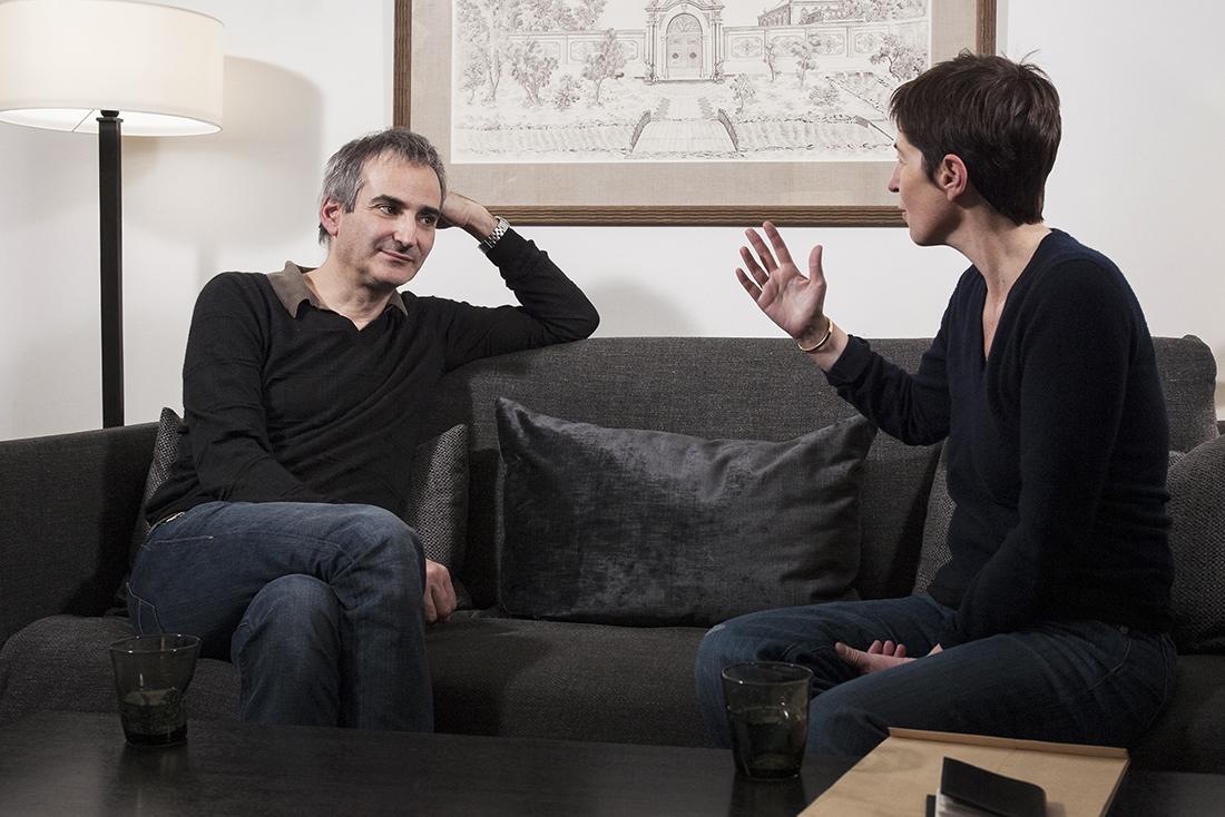 Olivier Assayas et Christine Angot. © Yann Revol