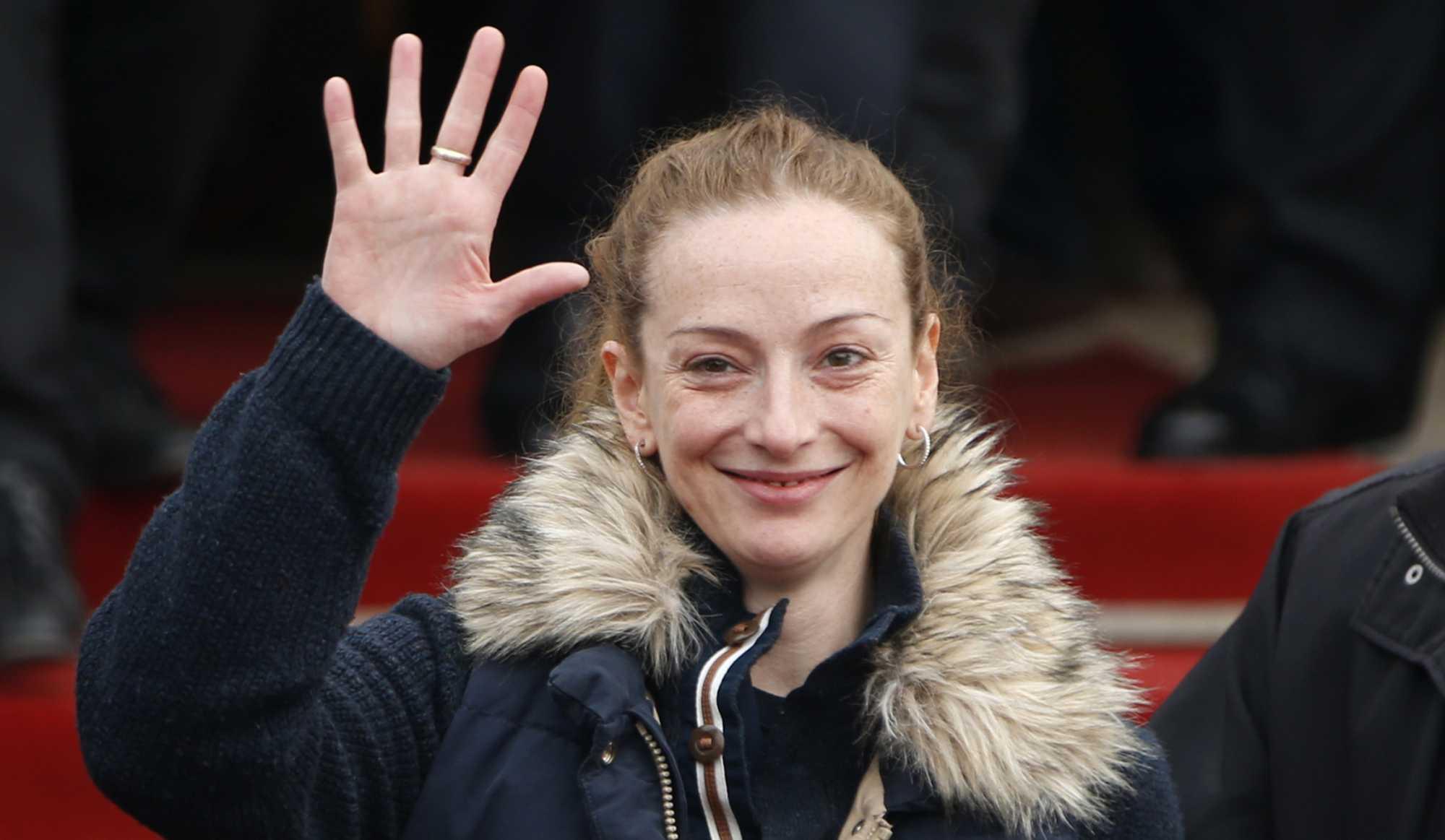 Florence Cassez à son arrivée à Paris, jeudi 24 janvier.