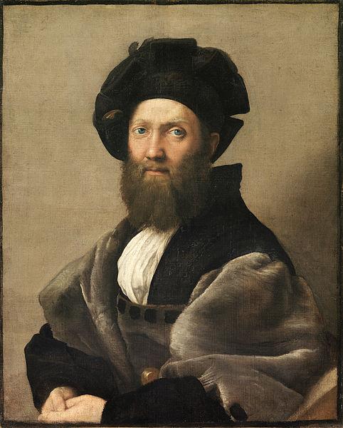Portrait de Baldassare Castiglione, 1514-1515, huile sur toile, 82 cm × 67 cm, Paris, musée du Louvre.