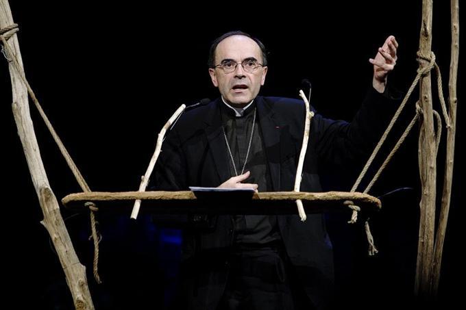 L'archevêque de Lyon, le cardinal Philippe Barbarin