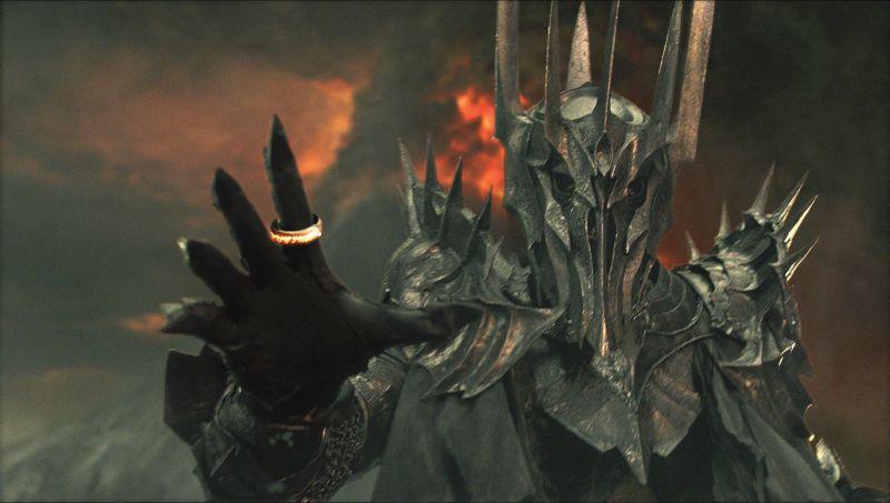 Sauron, seigneur des ténèbres et possible allégorie du nazisme.