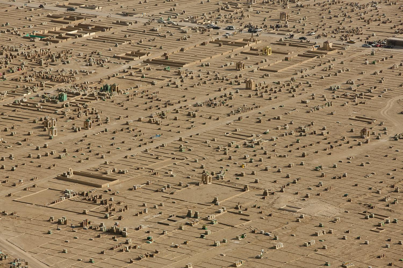 Le cimetière de Nadjaf.