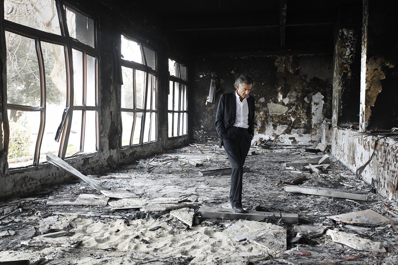 Bernard-Henri Lévy à Benghazi.