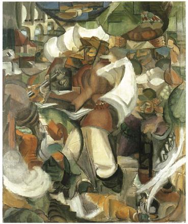 Le Chasseur, 1911-1912 - huile sur toile - 203 x 166,5 cm - Gemeentemuseum, La Haye - (donation Kickert)