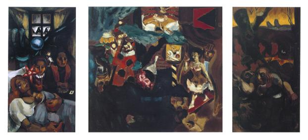 Le Songe du Vagabond, (Naissance, Songe et Mort), 1917-1918 huile sur toile - 200 x 430 cm - coll. part., Bergen