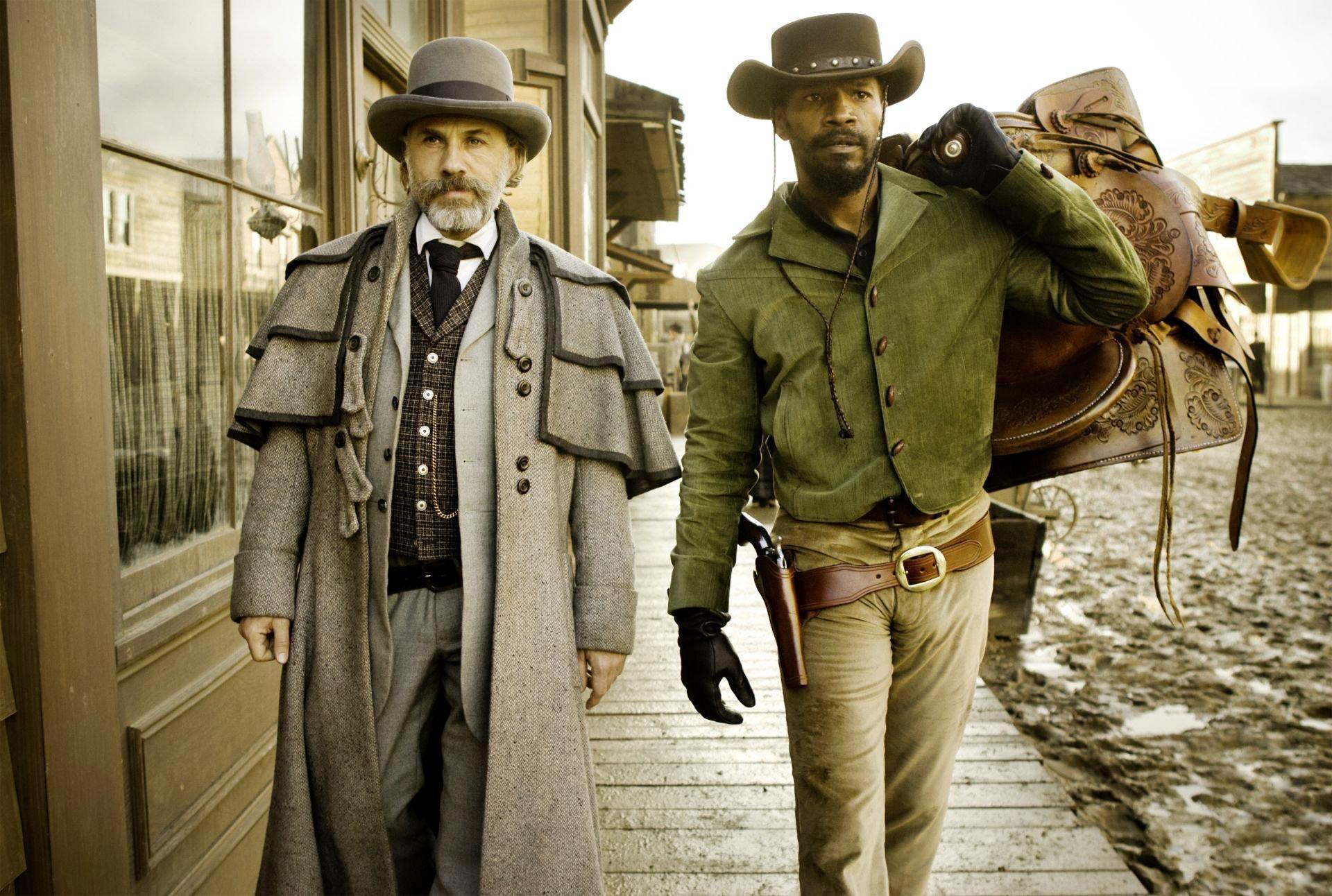 """Jamie Foxx et Christoph Waltz dans """"Django Unchained"""" de Tarantino"""