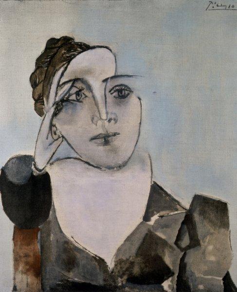 Portrait de Dora Maar par Picasso, 1936. Huile sur toile, 65x54 cm.