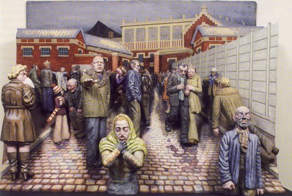 """""""Une tragédie dans le Nord, l'hiver, la pluie, les larmes"""", de Raymond Mason."""