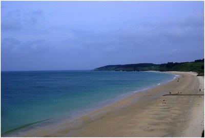 La plage des grands sables à belle-île