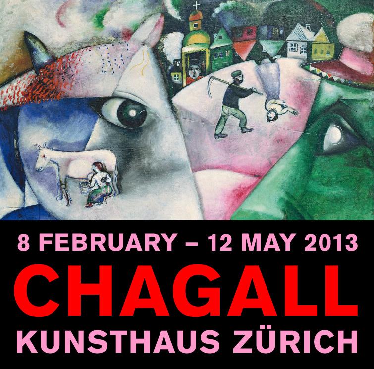 Affiche de l'exposition Chagall au Kunsthaus, à Zurich.