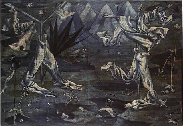 Espantapájaros (Épouvantails). Huile sur toile de 1930 achetée par André Breton à l'artiste espagnole Maruja Mallo lors de son séjour à Paris.