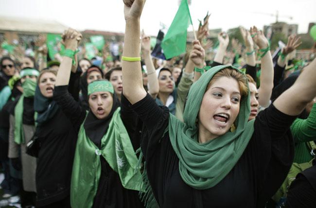 La révolution verte en Iran, en juin 2009.