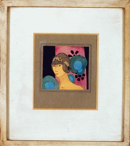 Tableau de Jacques Vaché présenté sous le nom de Tristan Milan