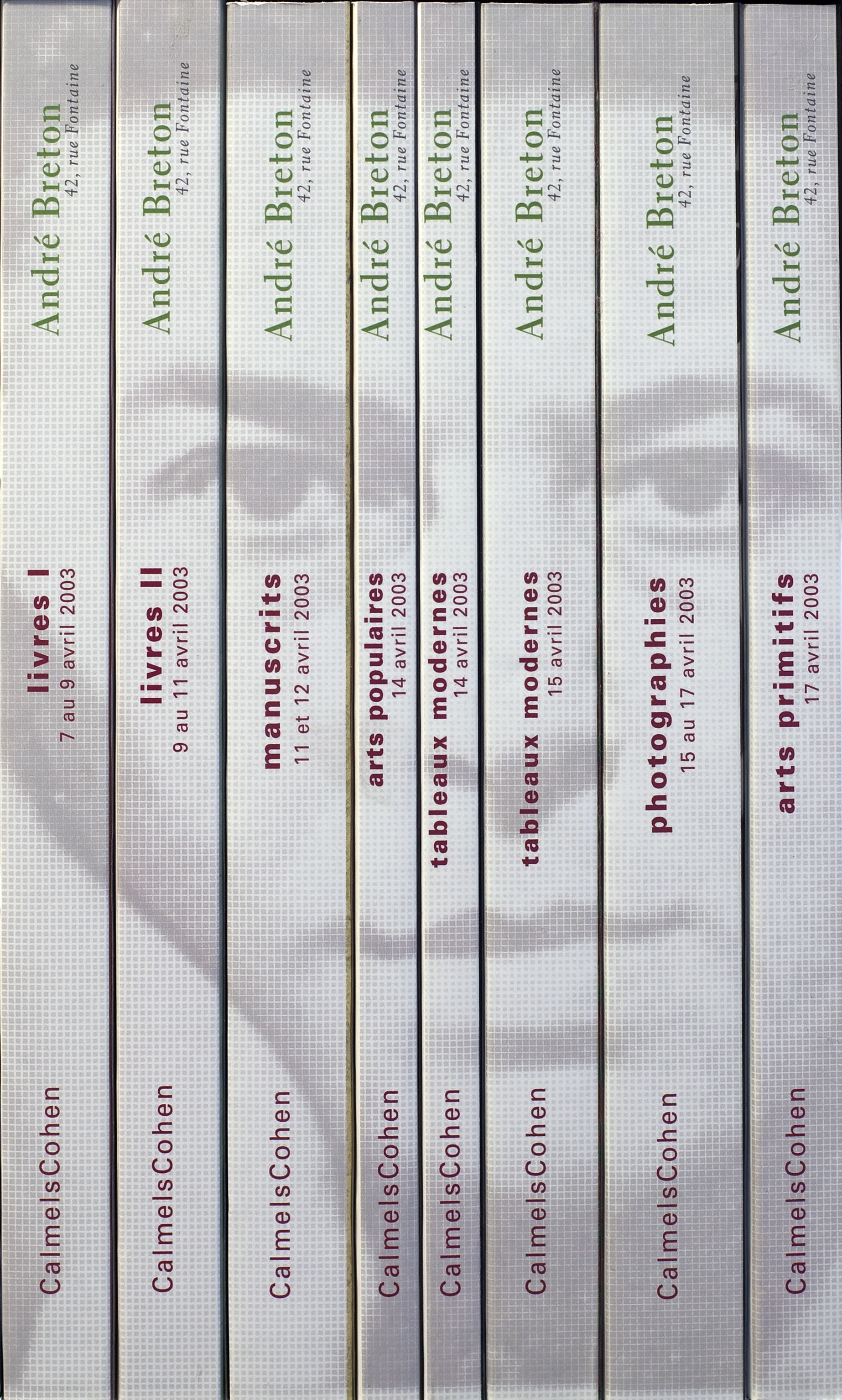 Catalogues de la Vente André Breton