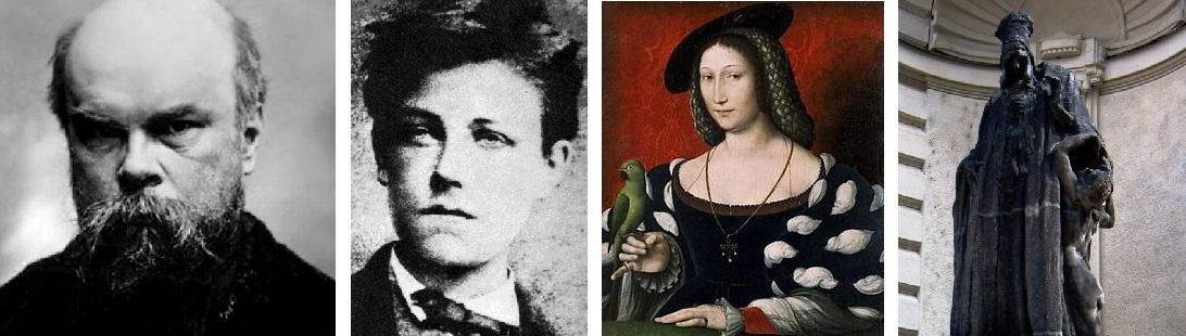 Paul Verlaine, Arthur Rimbaud, Marguerite de Navarre, Maharbal.
