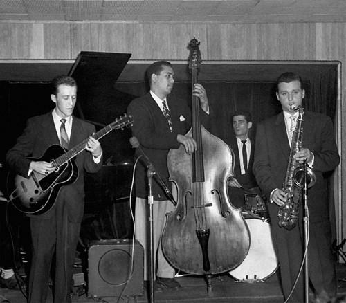 Jimmy Raney, Charles Mingus, Thil Brown et Stan Getz au Birdland, 1952