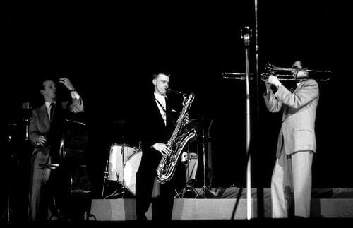 Red Mitchell, Gerry Mulligan, Brooks Brookmeyer, salle Pleyel,  Paris, juin 1954