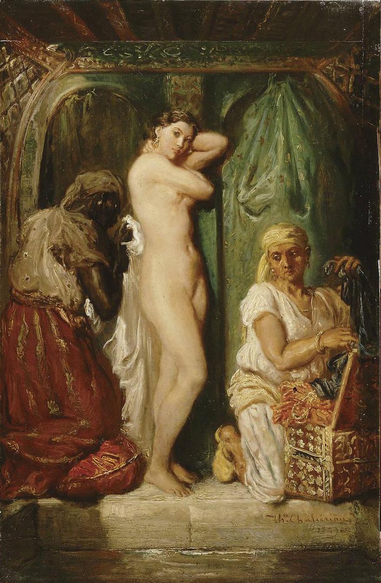 Bain au serail, Chasseriau, 1849, huile sur bois