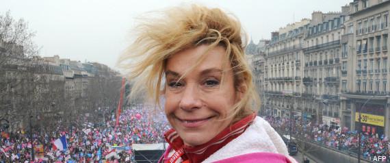 Frigide Barjot, porte-parole dérangeante des anti-mariage pour tous.