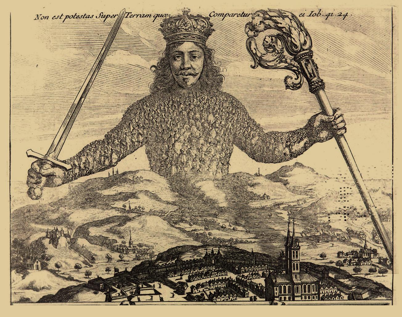 "Illustration du ""Léviathan"", de Hobbes, 1651"