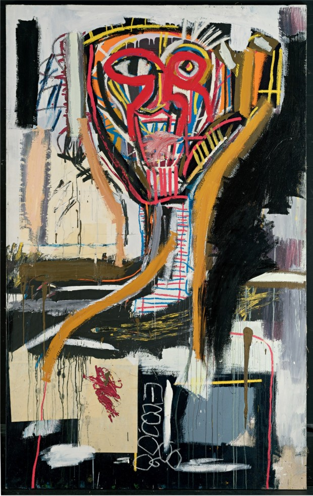 Jean-Michel Basquiat, Sans titre (Prophète I), 1981-1982, © The estate of Jean-Michel Basquiat