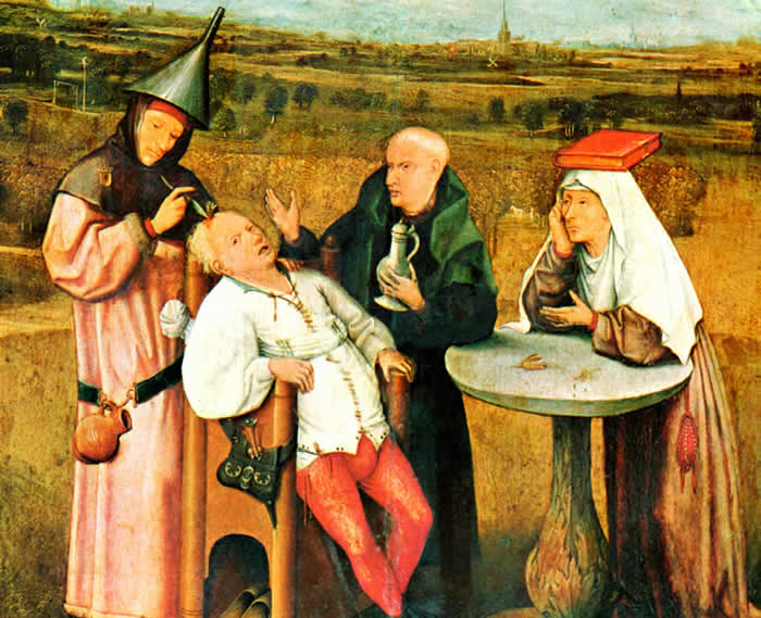 L'Extraction de la pierre de folie, par Jérôme Bosch (1460-1516)