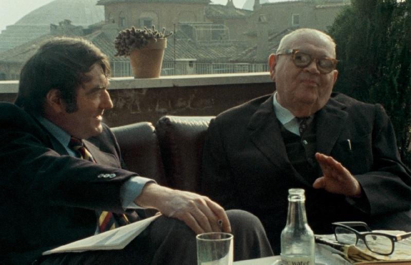 """En 1975, à Rome, Claude Lanzmann réalise un entretien filmé avec Benjamin Murmelstein, le Président du Conseil Juif du ghetto de Theresienstadt. Les images de cet entretien sont enfin rendues publiques dans """"Le Dernier des Injustes""""."""
