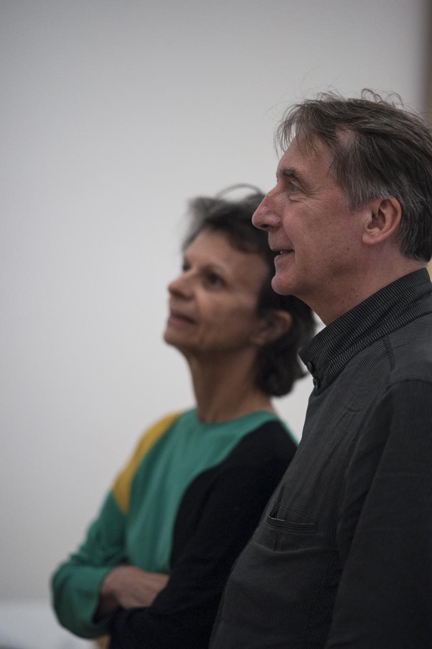 François Letaillieur et son épouse, Fondation Maeght, photo Yann Revol