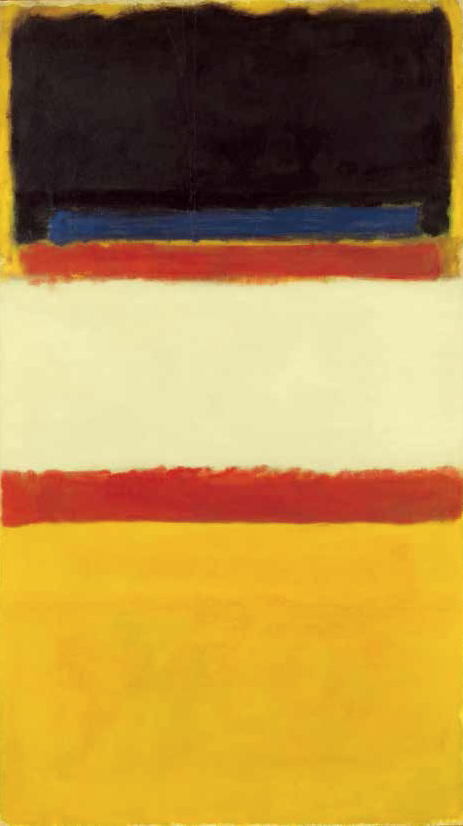 Mark Rothko, Untitled (Red, Yellow, Blue, Black and White), 1950, Huile sur toile 171,5 x 97,2 cm, Collection particulière © ADAGP, Paris 2013