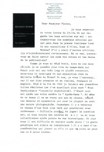 Christian Schad, Correspondance du 31/10/70