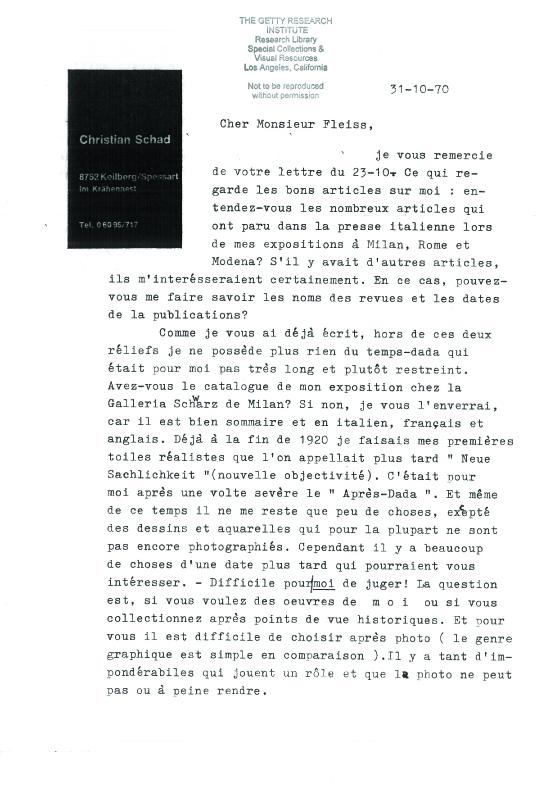1-1-Christian-Schad-Correspondance-du-31-10-70